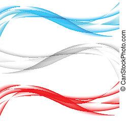 旗幟, 波狀, 集合