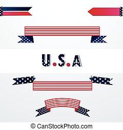 旗幟, 由于, 美國旗, colors.