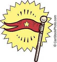 旗, ∥あるいは∥, スケッチ, 優勝旗