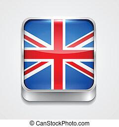 旗, の, イギリス