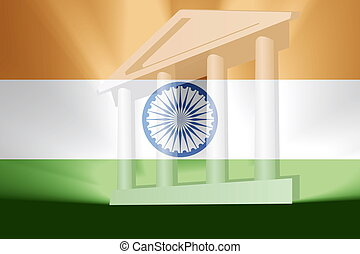 旗, の, インド, 政府