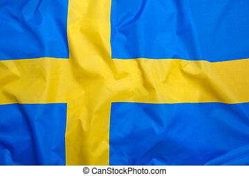 旗, の, スウェーデン