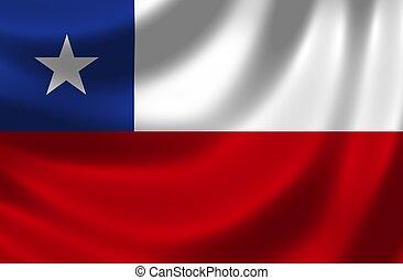 旗, の, チリ
