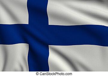 旗, の, フィンランド
