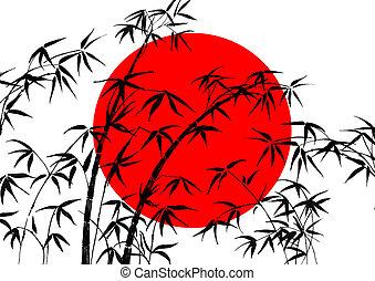旗, の, 日本, そして, 竹