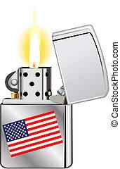 旗, より軽い, アメリカ