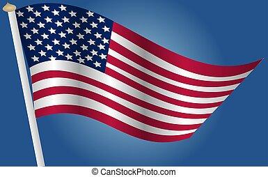 旗, アメリカ人