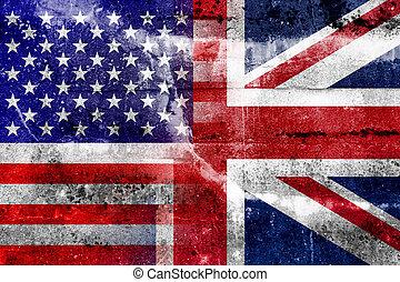 旗, アメリカ, イギリス