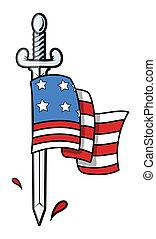 旗, アメリカ, 剣