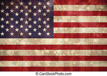 旗, アメリカ, 効果, グランジ