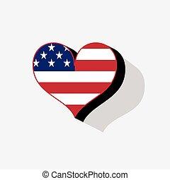 旗, アメリカ, 背景