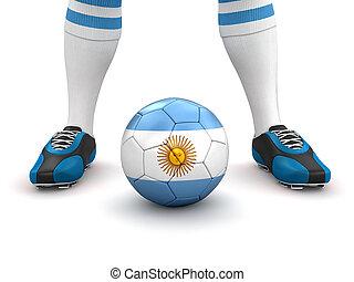 旗, アルゼンチン, 人, ボール