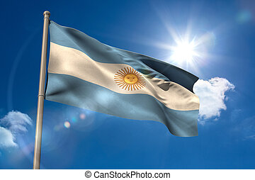 旗, アルゼンチン, 国民, flagpole