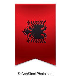 旗, アルバニア人, -, 旗, リボン