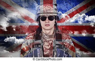 旗, イギリス\, 兵士