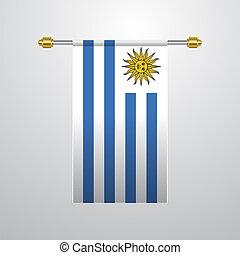 旗, ウルグアイ, 掛かること