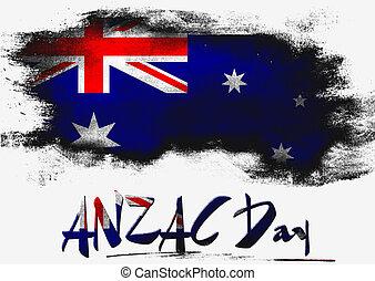 旗, オーストラリア, anzac, 日