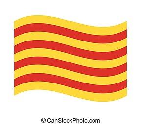旗, カタロニア