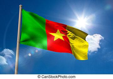 旗, カメルーン, 国民, flagpole