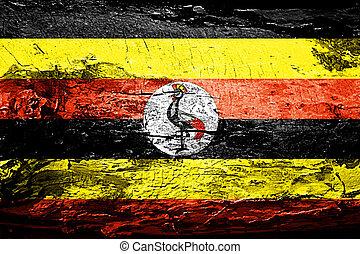 旗, グランジ, ウガンダ, 手ざわり
