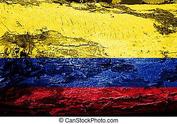 旗, グランジ, コロンビア, 手ざわり