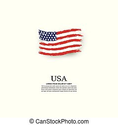 旗, グランジ, スタイル, アメリカ