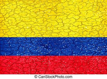 旗, グランジ, スタイル, 国民, コロンビア
