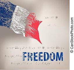 旗, グランジ, フランス
