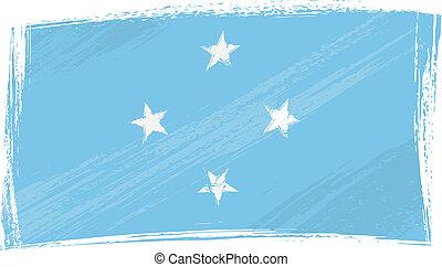 旗, グランジ, ミクロネシア