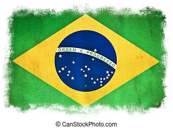 旗, グランジ, brasil