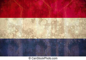 旗, グランジ, netherlands, 効果