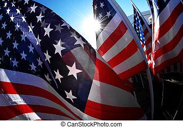 旗, グループ, 私達