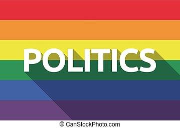 旗, ゲイの誇り, 影, 長い間, 政治, テキスト