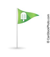 旗, ゴルフ, アイスクリーム
