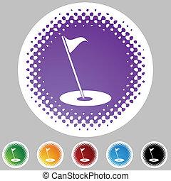 旗, ゴルフ