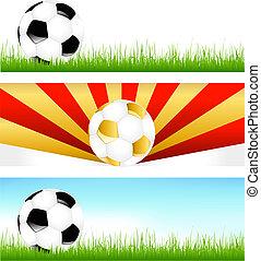 旗, サッカーボール