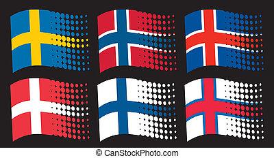 旗, スカンジナビア人