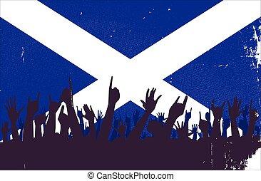 旗, スコットランド, 聴衆