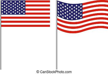 旗, ストライプ, 星