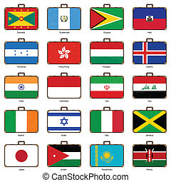 旗, スーツケース