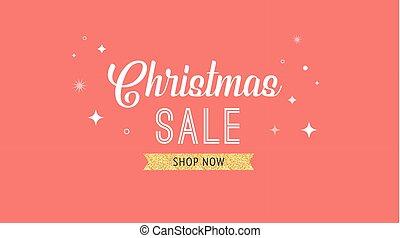 旗, セール, 背景, デザイン, テンプレート, クリスマス