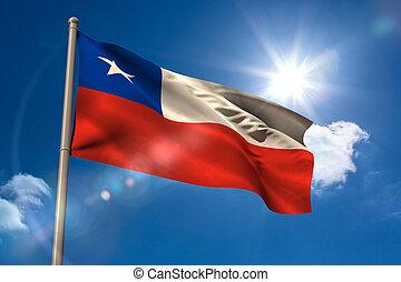 旗, チリ, 国民, flagpole