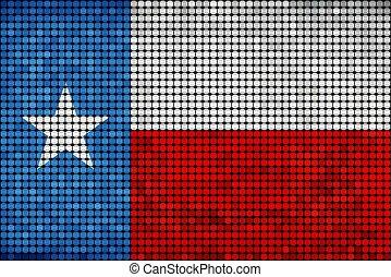 旗, テキサス, グランジ, モザイク