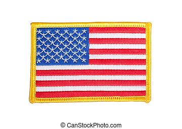 旗, バッジ, ユニフォーム, 私達