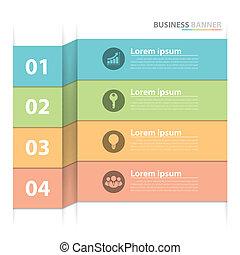 旗, ビジネス, infographics