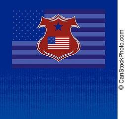 旗, ベクトル, アメリカ人, 背景