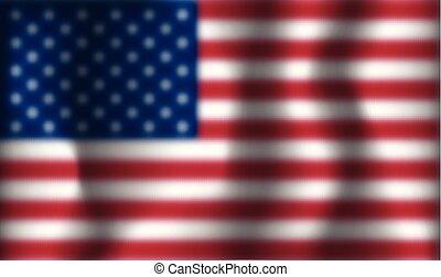 旗, ベクトル, アメリカ, ぼんやりさせられた