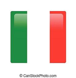 旗, ベクトル, イタリア語