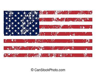 旗, ベクトル, イラスト, アメリカ