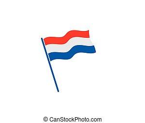旗, ベクトル, イラスト, デザイン, netherland